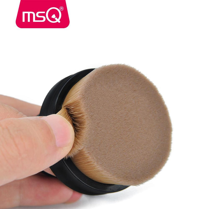 Round Powder Oval Micro Fiber Makeup Holder Foundation Cream Circle Brushes Brush