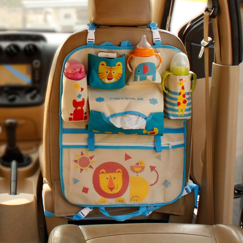 Clean Cartoon Kids Cute Storage Seat Pocket Organizer Hanging Car