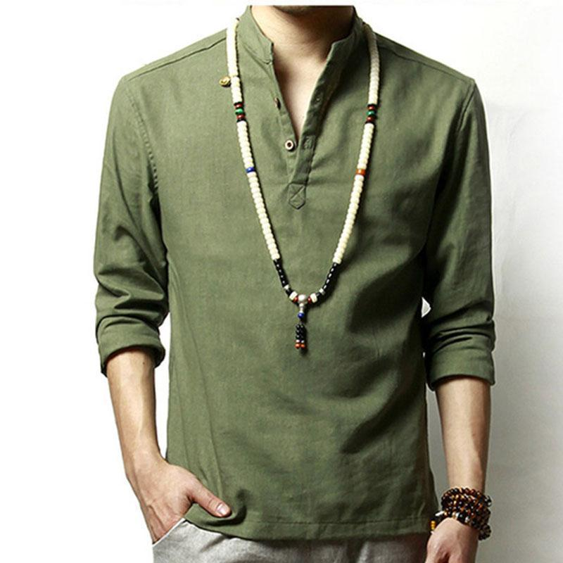 Light Style Japanese Chinese Summer Men Breathable Cotton