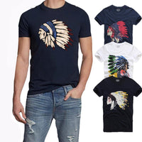 Summer Sport Shirt Native Indian Feather Casual