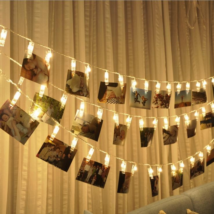 Hanging Wall Room Photo Memory Light LED Home Decorating Clips Boho