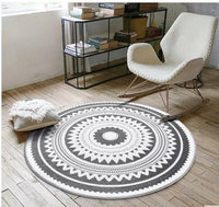 Mat Room Living Room Home Hippie Tribal Boho Carpet Rug Round