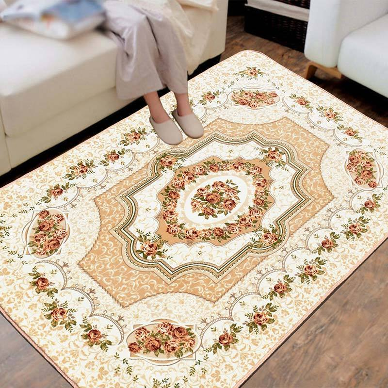 Classic Urban Modern Rectangle Floral Floor Living Room Decor Mat Rugs European Persian Decoration Carpet