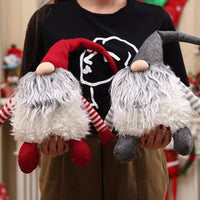 Plush Handmade Christmas Doll Decoration Holiday Gift Santa Beard