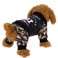 Puppy Cop Halloween Costume Cute Police Pet FBI Dog Camouflage Army