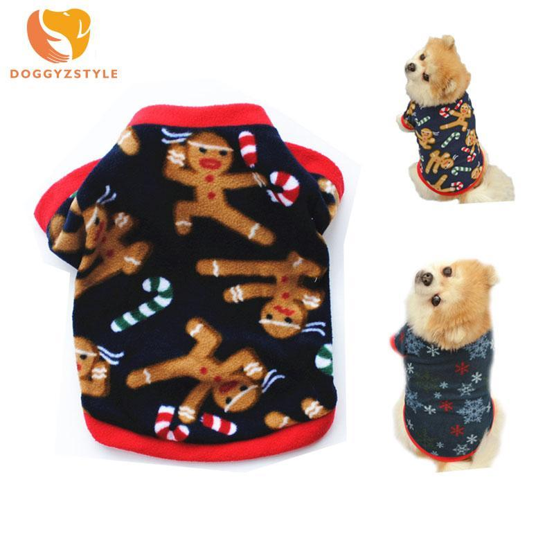 Winter Warm Pet Dog Puppy Gift Holiday Gingerbread Cute Christmas
