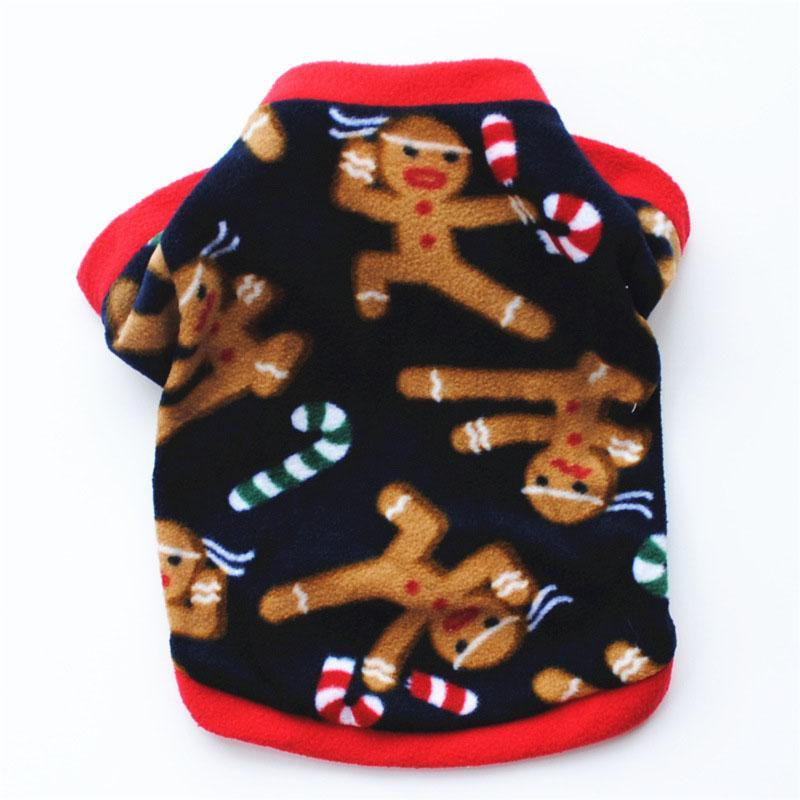 Holiday Gingerbread Dog Sweater