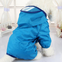 Cute Waterproof Raincoat Rain Puppy Jacket Hooded Dog