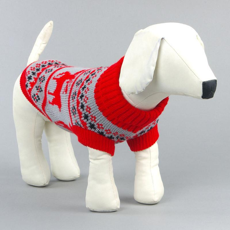 Small Dog Christmas Winter Sweater