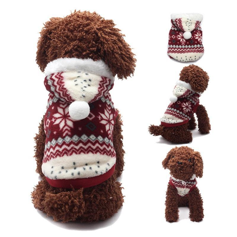 Soft Winter Dog Holiday Hoodie Sweater