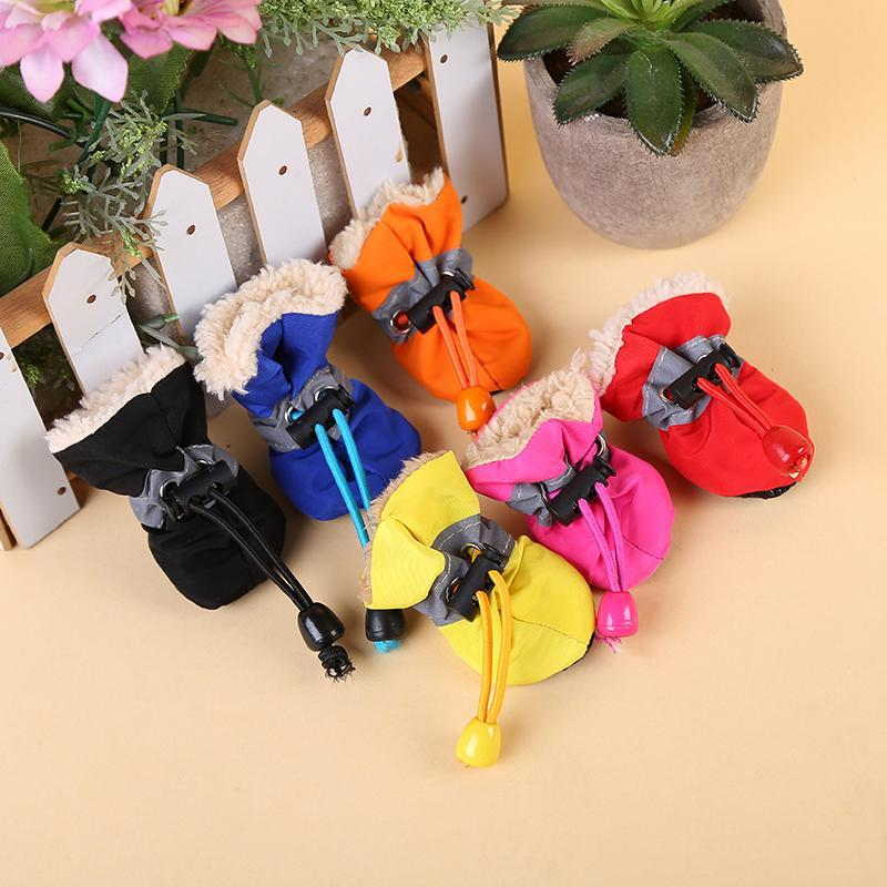 Waterproof Warm Shoes Rain Puppy Pets Non-slip Dogs Boots