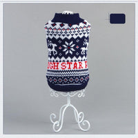 Jacket Knitted Red Blue Star Gift Christmas Holiday Warm Flakes Snow Cute Winter