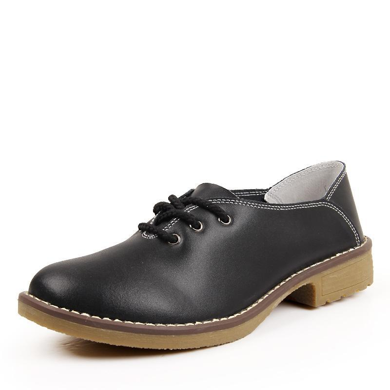 Shiny Leather Casual Lace Up Loafer