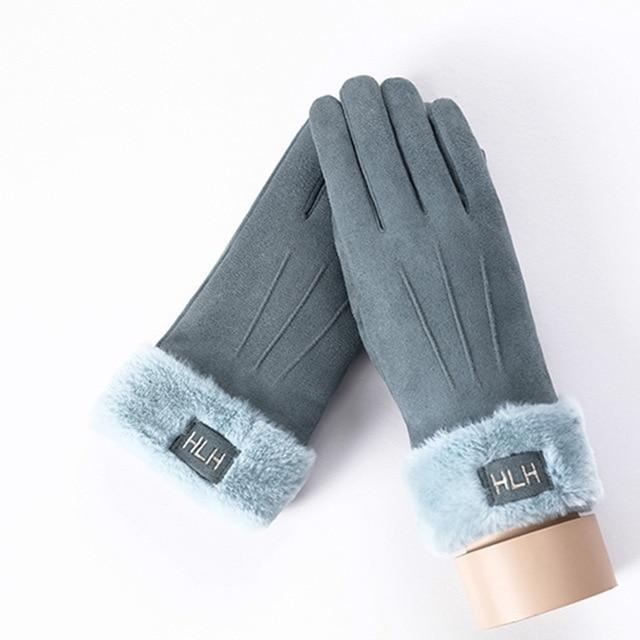 Fancy Girl Suede Winter Gloves