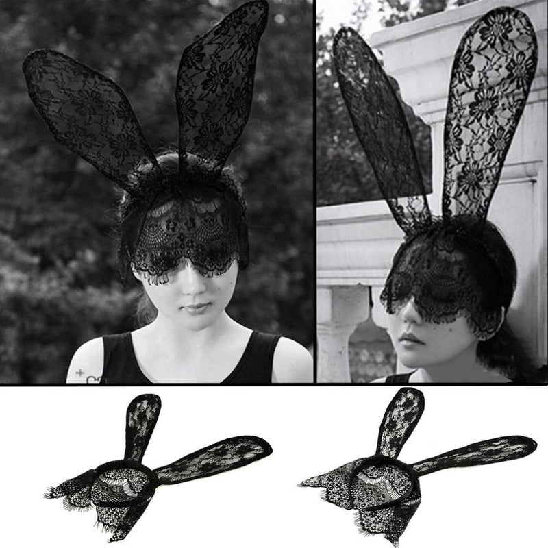 Sexy Bunny Lace Headband Mask