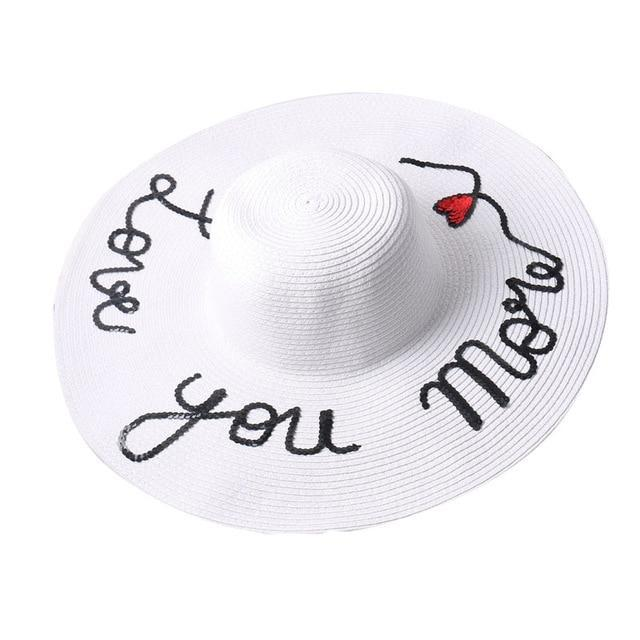 "Mommy and Kid ""Love You"" Vacation Beach Hat"