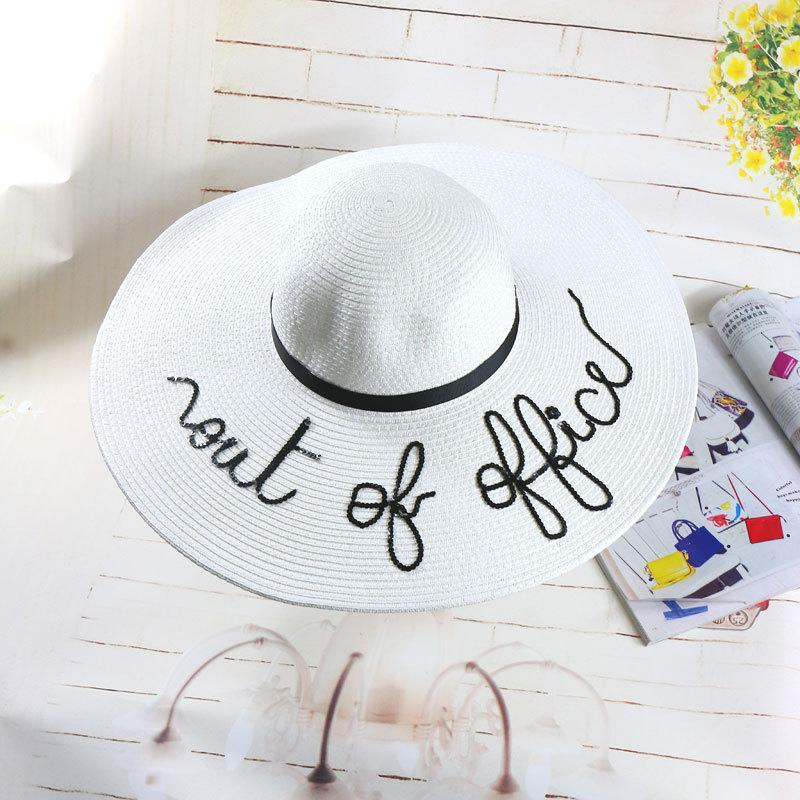 Cute Sun Vacation Summer Straw Pool Party Out Office Hats Cruise Beach