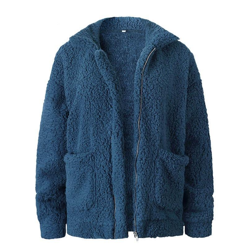 Teddy fleece faux Casual jacket