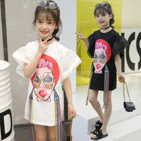 Brand Ice Cream Style French Girls Kids Fashion Designer Cute