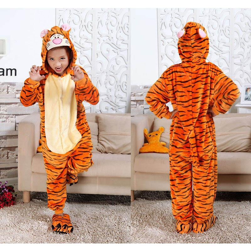 Play Kids Children Animal Pajamas Kitty Cat Tiger Minions Spiderman