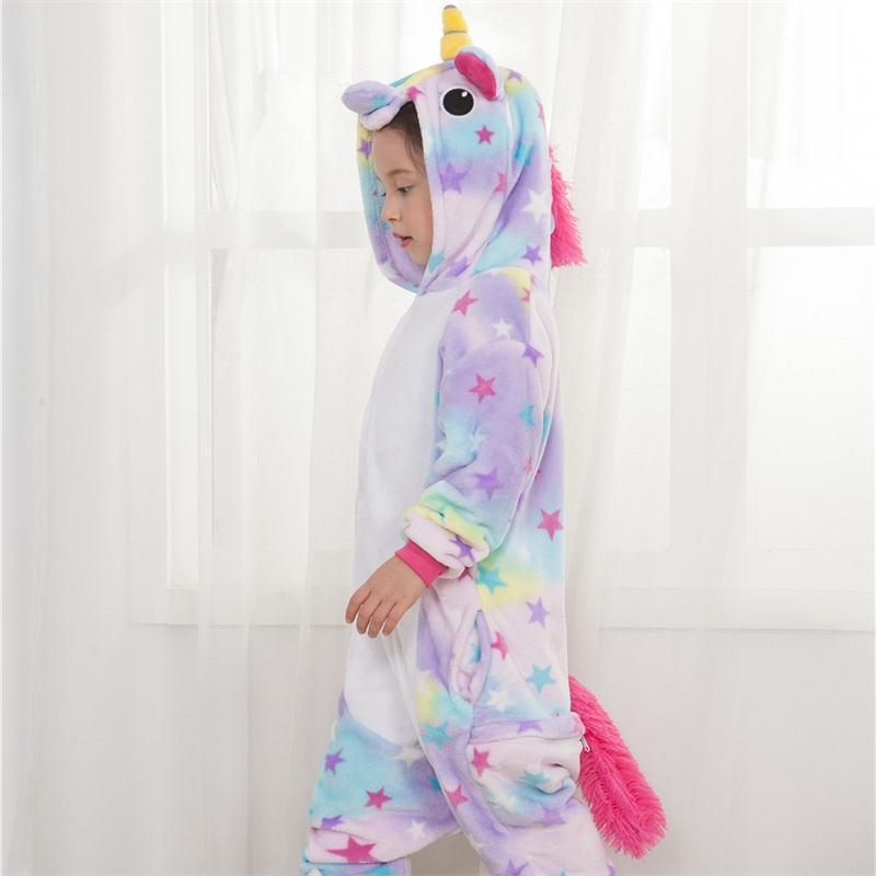Cartoon Animal Jumpsuit pajamas Halloween Cute Party Unicorn Kids Costumes