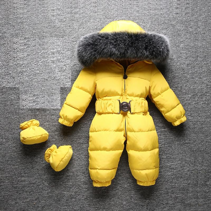 Winter  Warm  Toddler  Snow  Romper  Material_Polyester  Material_Nylon  Material_Cotton  Kids  Jumpsuit  Jacket  Girl