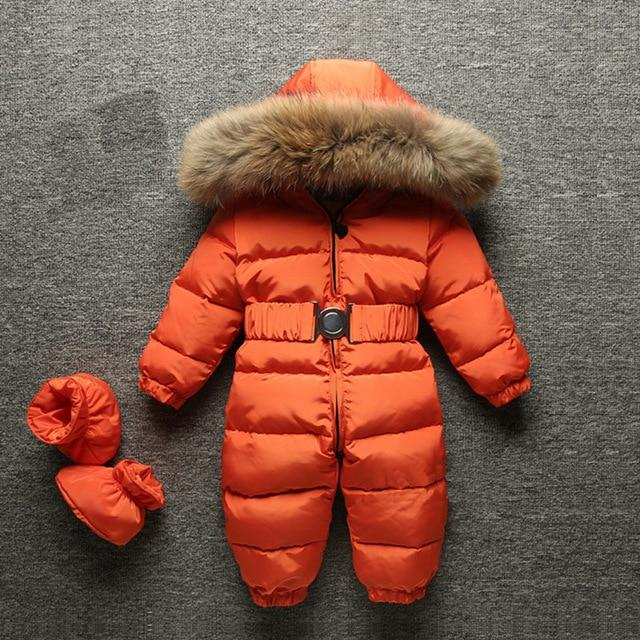 Russian Winter New Born Baby Jumpsuit Jacket