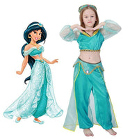 Princess Party Movie Kids Jasmine Halloween Costume Cartoon Baby Aladdin