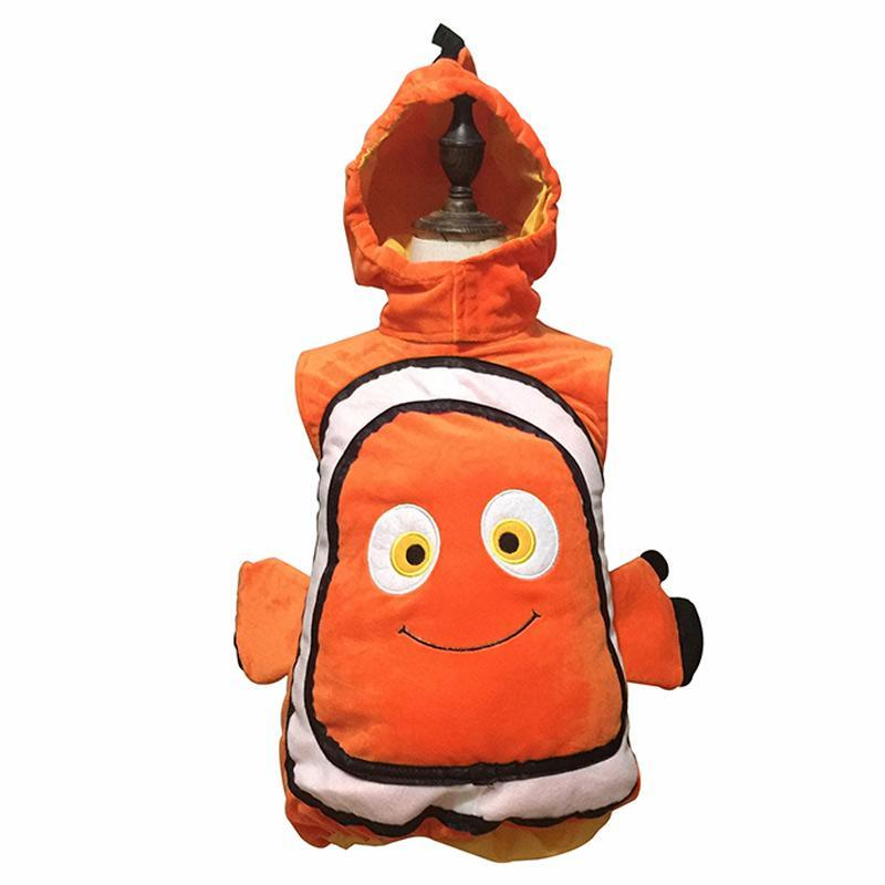 Party School Orange Nemo Movie Halloween Fun Fish Dory Cute Costume Cosplay Cartoon