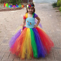 Unicorn Tutu Rainbow Princess Pony Kids Horse Halloween Girls Costume
