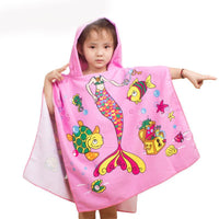 Towel Shower Kids Fun Cute Children Cartoon Beach Bath