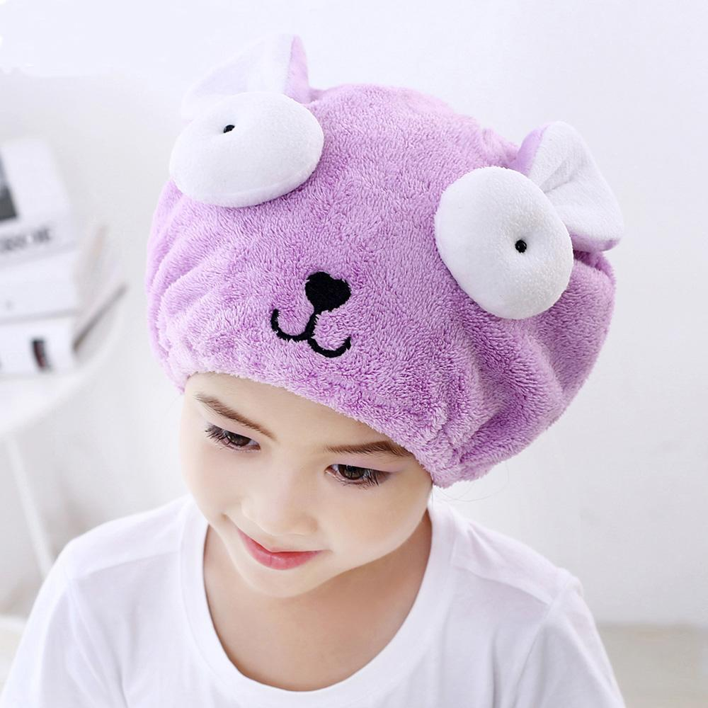 Towel Shower Kids Hat Girls Cute Children Cap Boys Bath