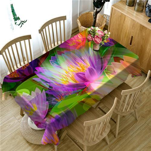 Kitchen Feather Tablecloth Table Spring Flower Floral Eggs Easter Cover Color Abstract 3D