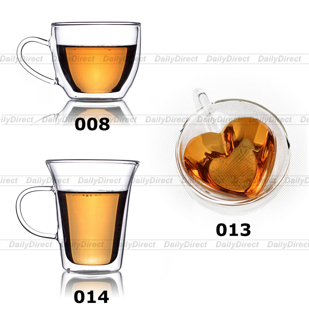 Wall Tea Kitchen Heart Handel Glasses Gift Double Coffee Valentine