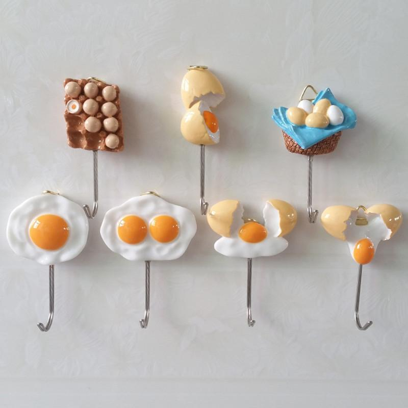 Strong Kitchen Hook Home Eggs Design Adhesive
