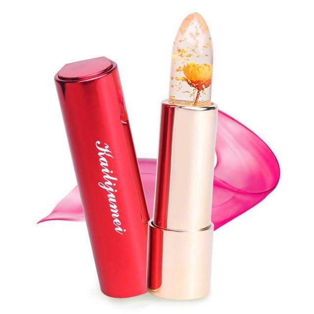 Smudge Long-lasting Lipstick Flower color changing Clear