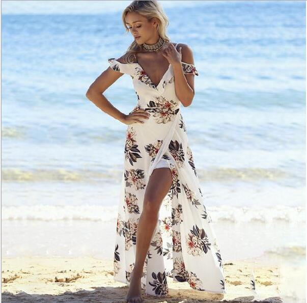 Miami Beach Floral Maxi Dress