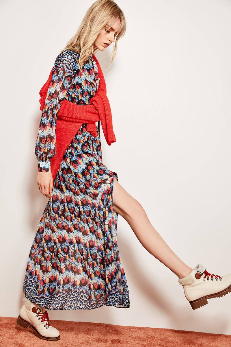 Russian Leopard Pattern Maxi Dress