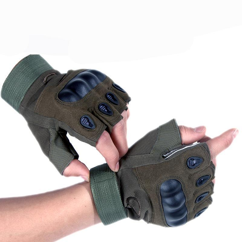Anti Sweat Gym Work Out Mitten Military Army Sport Biker Gloves Car Auto