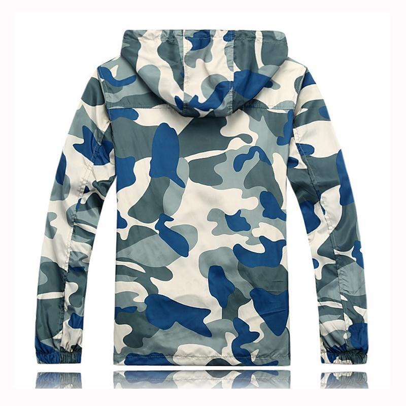 Camouflage Hooded Jacket for Men
