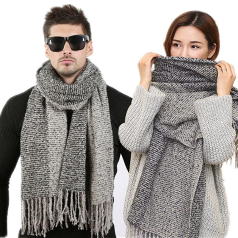 Style Sky Snow Warm Wool Winter Design Classic Knitted Cashmere