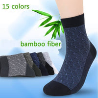 Socks Men High Quality Fiber Cotton Breathable Bamboo