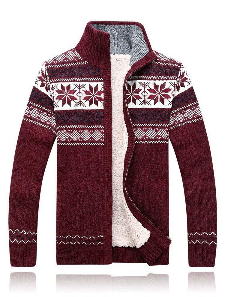 Knitted Winter Designer Fashion Wool Gift Snow Snow White Holiday Mr Grey Sweater Cardigan