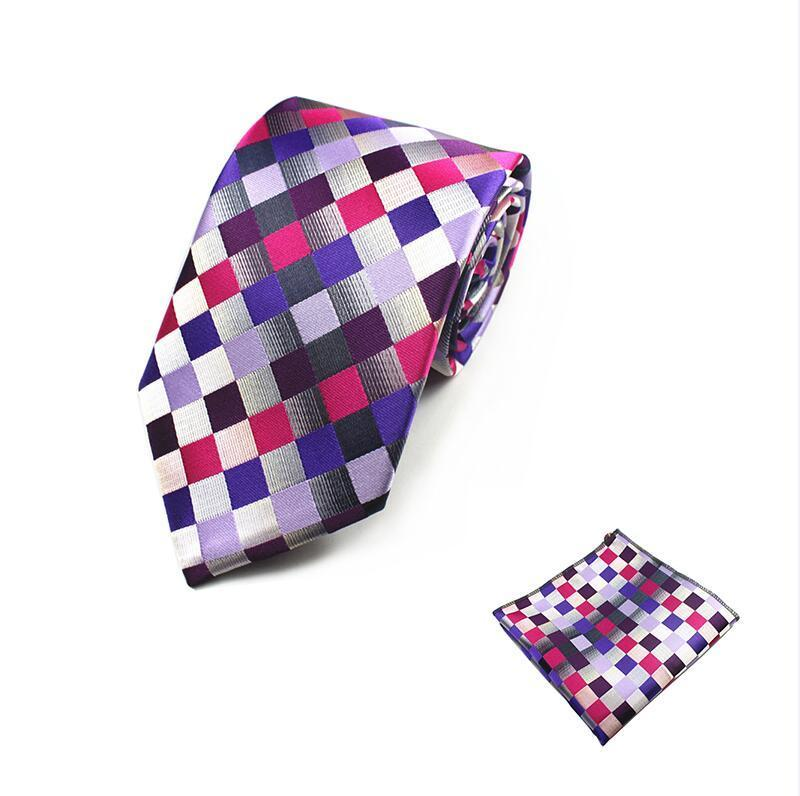 Beirut Design Silk Tie and Handkerchief Set