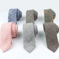 High Quality Men Skinny Wool Tie