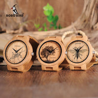 Bee Tree Wooden Wood Watches Leather French Designer Cute Classic Bamboo