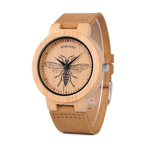 Japanese Style Bamboo Wood Watches for Men