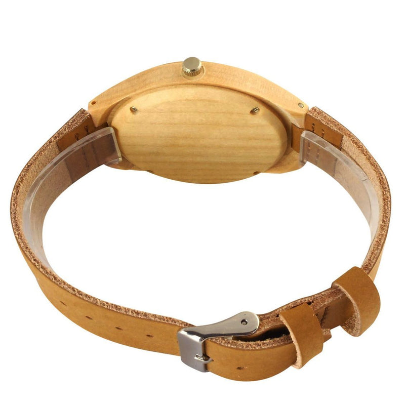 Vintage Elk Deer Head Bamboo Wood Watch