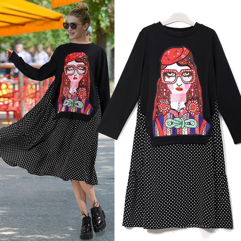 European Style Casual Woman Embroidery  Dress