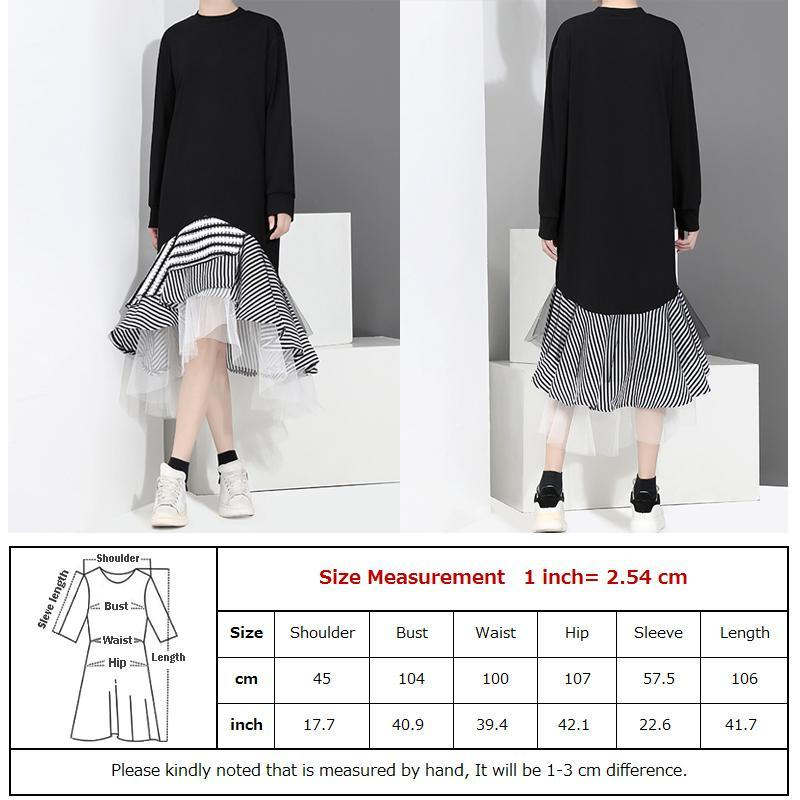 Designer Style Plaid Japanese Korean Long Lace Chiffon Oversize Russian Cute